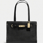 Preorder COACH SWAGGER SMALL TOTE IN POLISHED PEBBLE LEATHER Style No: 34915