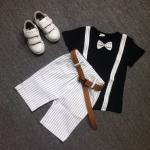 เสื้อ+กางเกง สีดำ แพ็ค 3 ชุด ไซส์ 120-130-140 (เลือกไซส์ได้)
