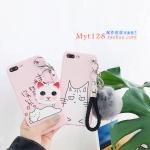 เคส iPhone 7 Plus (5.5 นิ้ว) พลาสติก TPU ลายน้องแมวพร้อมที่ห้อนแสนน่ารัก ราคาถูก
