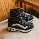 รองเท้าเด็กแฟชั่น สีดำ แพ็ค 6 คู่ ไซส์ 31-32-33-34-35-36