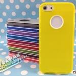 case iphone 5 เคสไอโฟน5 เคส TPU สีพื้นเรียบมีช่องโชว์โลโก้หลังเครื่อง มีสีตัดขอบสวยๆ Two-color box logo hole