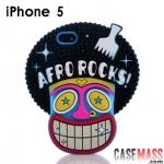 เคส iphone 5 Candies เคสซิลิโคน 3D เรืองแสง รูปโจรสลัด แอฟโฟร่ แนวๆ AFRO ROCK TIKI ROCK PIRATE