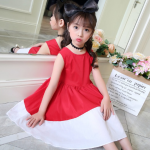 ชุดกระโปรง สีแดง แพ็ค 5 ชุด ไซส์ 120-130-140-150-160 (เลือกไซส์ได้)