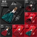 เคส iPhone 8 Plus พลาสติกลายผู้หญิงแสน สวยมากๆ ราคาถูก (สีของสายคล้องแล้วแต่ร้านจีนแถมมา)