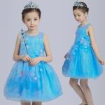 ชุดเจ้าหญิง สีฟ้า แพ็ค 5ชุด ไซส์ 110-120-130-140-150 (เลือกไซส์ได้)