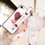 เคส OPPO A83 / A83 (2018) ซิลิโคนสกรีนลายหัวใจ พร้อมสายคล้องมือ สวยงามมาก ราคาถูก