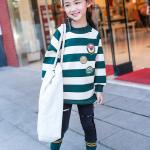 เสื้อ สีเขียว แพ็ค 5 ชุด ไซส์ 120-130-140-150-160 (เลือกไซส์ได้)