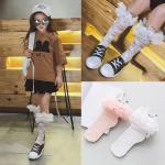 ถุงเท้ายาว สีชมพู แพ็ค 10 คู่ ไซส์ M (ประมาณ 4-6 ปี)