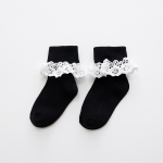 ถุงเท้าสั้น สีดำ แพ็ค 10 คู่ ไซส์ ประมาณ 7-10 ปี