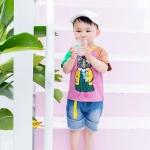 เสื้อ สีม่วง แพ็ค 5 ชุด ไซส์ 80-90-100-110-120