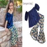 เสื้อ+กางเกง สีน้ำเงิน แพ็ค 5ชุด ไซส์ 80-90-100-110-120 (เลือกไซส์ได้)
