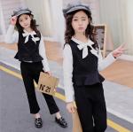 เสื้อกั๊ก+เสื้อตัวใน+กางเกง สีดำ แพ็ค 5 ชุด ไซส์ 120-130-140-150-160 (เลือกไซส์ได้)