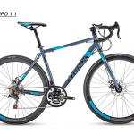 จักรยานเสือหมอบไซโคลครอส TRINX TEMPO 1.1 เฟรมอลู 21 สปีด ดิสหน้า-หลัง ปี 2018
