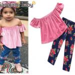 เสื้อ+กางเกง สีชมพู แพ็ค 5ชุด ไซส์ 80-90-100-110-120 (เลือกไซส์ได้)