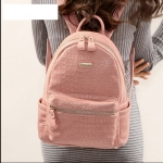 [Pre-order] MM3100 กระเป๋าเป้ผู้หญิง เลียนแบบหนังจระเข้ สไตล์เกาหลี Korean Style