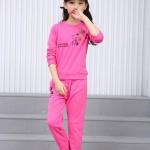 เสื้อ+กางเกง สีโรส แพ็ค 5 ชุด ไซส์ 110-120-130-140-150