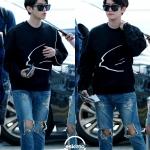 เสื้อยืดแฟชั่นแขนยาว EXO BAEKHYUN 2014 สีดำ