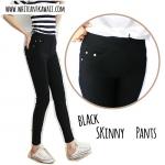 [พร้อมส่ง] SKP6792 กางเกงสกินนี่ เข้ารูป เอวยางยืด สีดำ