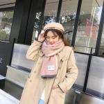 [พร้อมส่ง] SC8121 ผ้าพันคอแคชเมียร์ สีพาสเทลหวาน สไตล์เกาหลี