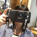 เคส Samsung S7 Edge ซิลิโคนรูปกล้องถ่ายรูปสุดเท่ ตรงเลนส์สามารถยืดออกมาตั้งได้ พร้อมสายคล้อง ราคาถูก
