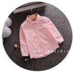 เสื้อเชิ้ต สีชมพู ลายตัวอักษร แพ็ค 4ชุด ไซส์ 100-110-120-130 (เหมาะสำหรับเด็กสูง 75-105 ซม.)