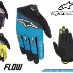 ถุงมือเต็มนิ้ว Alpinestars รุ่น Flow รัดข้อมือด้วยแถบรัดแน่นกระชับข้อมือ 2018