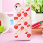case iphone 4/4s เคสไอโฟน4/4s เคสซิลิโคนลายแอปเปิ้ล น่ารักสุดๆ