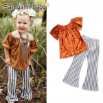เสื้อ+กางเกง สีส้ม แพ็ค 5ชุด ไซส์ 80-90-100-110-120 (เลือกไซส์ได้)