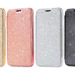 เคส iPhone X แบบฝาพับ PC+TPU กริตเตอร์ฟรุ้งฟริ้ง หรูหราสวยงามมาก ราคาถูก ราคาส่ง