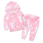 เสื้อ+กางเกง สีชมพู แพ็ค 4 ชุด ไซส์ 70-80-90-100 (เลือกไซส์ได้)