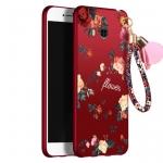 เคส HTC U11 พลาสติกลายดอกไม้แสนสวยพร้อมสายคล้องมือ น่ารักมากๆ ราคาถูก