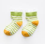 ถุงเท้าสั้น สีเขียว แพ็ค 10 คู่ ไซส์ อายุประมาณ 4-6 ปี