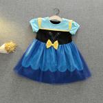 ชุดเจ้าหญิง สีน้ำเงิน แพ็ค 5ชุด ไซส์ 90-100-110-120-130 (เลือกไซส์ได้)