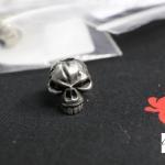 Emerson Skull Bead, Pewter