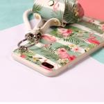 เคส iPhone SE / 5s / 5 พลาสติก TPU ลายนกฟลามิงโกน่ารักมากๆ พร้อมสายคล้องมือและกระเป๋าเก็บสายหูฟัง ราคาถูก