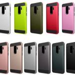 เคส Samsung S9+ (S9 Plus) เคสกันกระแทกแยกประกอบ 2 ชิ้น ด้านในเป็นซิลิโคนสีดำ ด้านนอกพลาสติกเคลือบเงาโลหะเมทัลลิค ราคาถูก