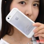 เคสไอโฟน5 เคสซิลิโคนใส บางๆ แยกประกอบ 2 ชิ้น นิ่มๆ ไม่ทำให้ตัวเครื่องเป็นรอย สวยๆ น่ารักๆ Korea I glow luminous silicone case transparent