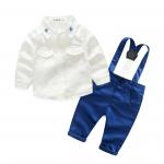 เสื้อ+เอี๊ยมกางเกง สีขาว แพ็ค 4 ชุด ไซส์ 70-80-90-95 (เลือกไซส์ได้)
