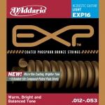 สายกีตาร์โปร่ง D'Addario EXP16 Coated Phosphor Bronze Light