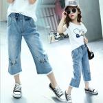 กางเกง สีฟ้า แพ็ค 5 ชุด ไซส์ 120-130-140-150-160 (เลือกไซส์ได้)