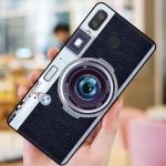 เคส Samsung A8 Star ซิลิโคนรูปกล้องถ่ายรูปน่ารัก ตรงเลนส์สามารถยืดออกมาตั้งได้ พร้อมสายคล้อง ราคาถูก