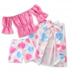 เสื้อ+กางเกง+กระโปรง สีโรส แพ็ค 5ชุด ไซส์ 80-90-100-110-120 (เลือกไซส์ได้)