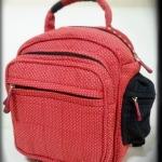 กระเป๋าเป้ Old School Backpack โทนแดง - สั่งทำค่ะ