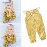 เอี๊ยมกางเกง สีเหลือง แพ็ค 4 ชุด ไซส์ 70-80-90-100 (เลือกไซส์ได้)