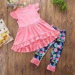 เสื้อ+กางเกง สีชมพู แพ็ค 5 ชุด ไซส์ 80-90-100-110-120 (เลือกไซส์ได้)