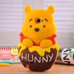 Case Samsung Galaxy Note 2 หมีพูห์อยู่ในถังน้ำผึ้งน่ารักๆสุด ซิลิโคน 3D Pooh เคสมือถือราคาถูกขายปลีกขายส่ง