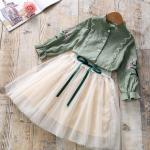 เสื้อ+กระโปรง สีเขียว แพ็ค 5ชุด ไซส์ 100-110-120-130-140