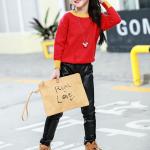 เสื้อกันหนาว สีแดง แพ็ค 5 ชุด ไซส์ 120-130-140-150-160 (เลือกไซส์ได้)