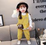 เสื้อตัวนอก+เสื้อตัวใน+กางเกง สีเหลือง แพ็ค 4 ชุด ไซส์ 70-80-90-100