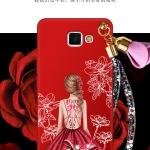 เคส Samsung A9 Pro ซิลิโคนลายผู้หญิง พร้อมสายคล้องมือสวยงามมาก ราคาถูก (แหวนแล้วแต่ร้านจีนแถมหรือไม่)